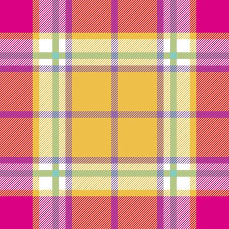 Madras: yellow pink indian madras fabric texture seamless pattern.