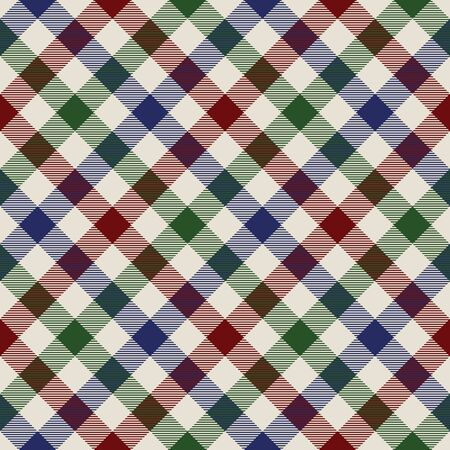 red plaid: plaid material green red blue seamless pattern. Illustration
