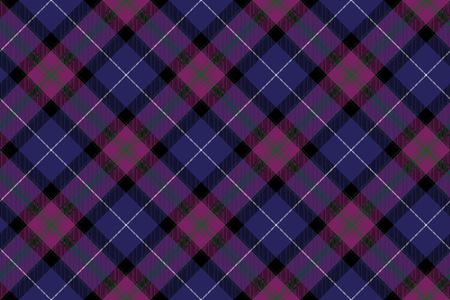 checkered skirt: Pride of scotland tartan fabric diagonal texture seamless pattern .Vector illustration. Illustration
