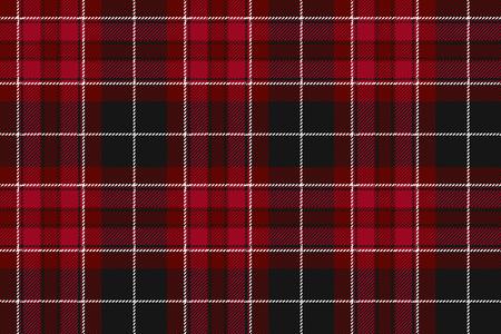 irish pride: Pride of wales fabric textile red tartan seamless horizontal background. Vector illustration.