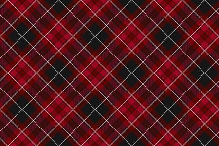 Stolz von Wales Gewebe Diagonale Texturen rot Tartan nahtlose horizontale Hintergrund. Vektor-Illustration.