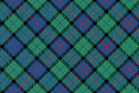 flower of scotland tartan fabric texture seamless diagonal pattern .Vector illustration.