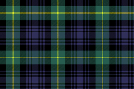 gordon tartan fabric texture seamless pattern .Vector illustration. Stock Illustratie