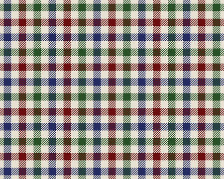 checked fabric: colored checked fabric texture seamless pattern. Vector illustration.