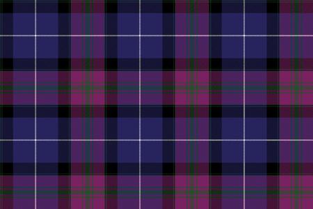 Pride of Scotland Tartan Stoff Textur nahtlose Muster-Illustration.