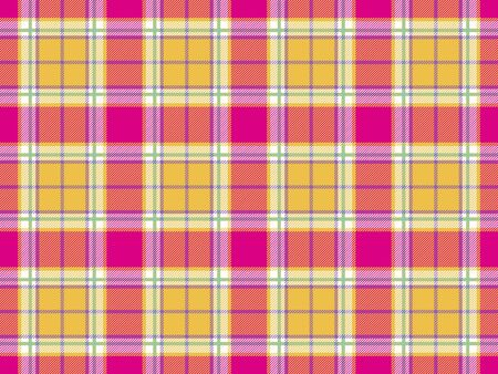 Madras: plaid indian madras fabric texture seamless background. Vector illustration. Illustration