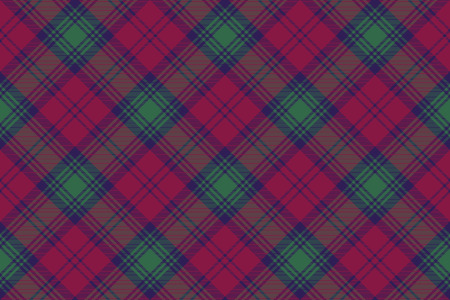 lindsay: Lindsay tartan fabric texture diagonal pattern seamless .Vector illustration. Illustration
