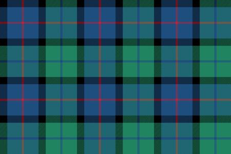 flower of scotland tartan seamless pattern fabric texture .Vector illustration.  イラスト・ベクター素材
