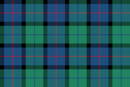 flower of scotland tartan seamless pattern fabric texture .Vector illustration. Stock Illustratie