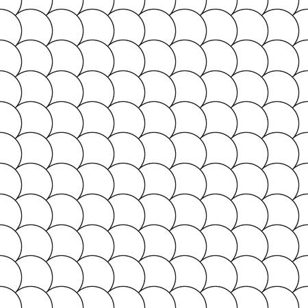 escamas de pez: simple seamless pattern diagonal fish scales. Vector illustration.