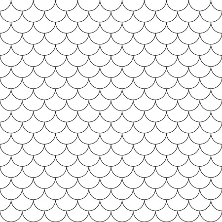 escamas de pescado patrón transparente sencilla .Vector ilustración. 10 EPS. Ilustración de vector
