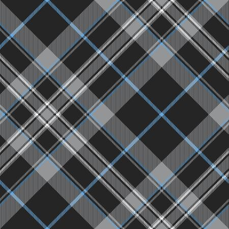 irish culture: Pride of scotland platinum kilt tartan diagonal seamless pattern .Vector illustration.