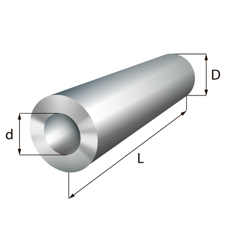 Steel cylinder tube industrial metal object. Vector illustration. EPS 10.