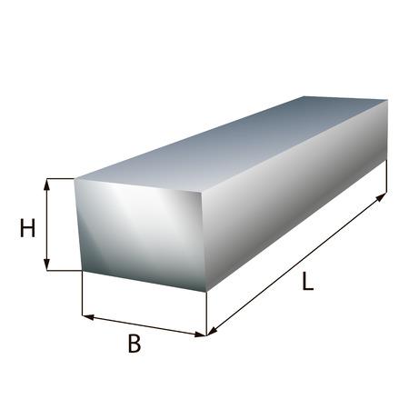 girders: Steel block plate industrial metal object. Illustration