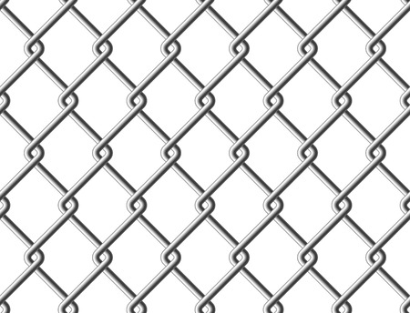 fense: Steel mesh metal fence seamless structure. Vector illustration. EPS 10.