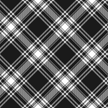 irish culture: Menzies tartan black kilt diagonal fabric texture background seamless pattern.