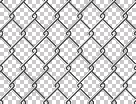 fense: Steel mesh metal fence seamless transparent structure. Vector illustration. EPS 10.