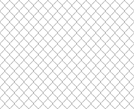 metal mesh: Old metal mesh steel fence seamless. Vector illustration.