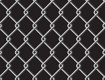 fense: Steel mesh metalic fance black seamless background. Vector illustration. EPS 10.