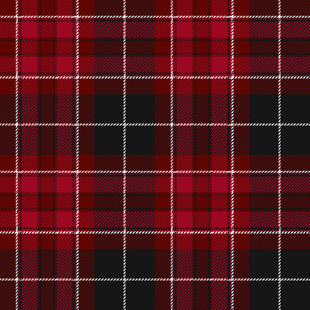 irish pride: Pride of wales fabric texture red tartan seamless pattern. Vector illustration. Illustration
