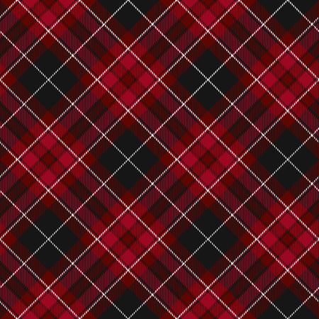 irish pride: Pride of wales fabric diagonal textile red tartan seamless pattern. Vector illustration. Illustration