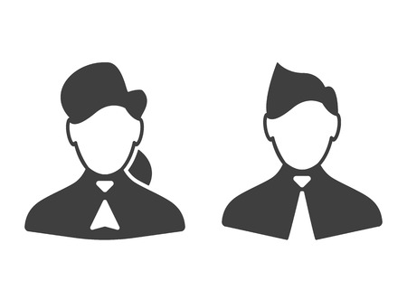 consultants: Consultants woman and man icons vector illustration