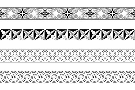 imagery: Seamless meander pattern strips vector illustration Illustration