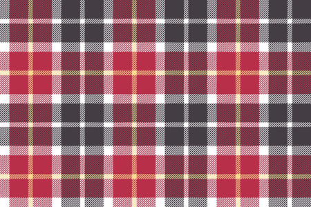 checkered skirt: Red and gray check fabric seamless texture. Vector illustration.