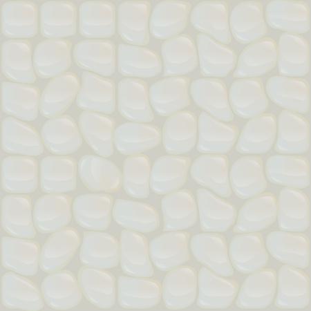 perl: Pearl stones seamless texture. Vector illustration. Illustration