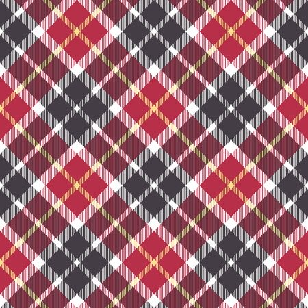 red plaid: Red and gray check plaid seamless pattern. Vector illustration. Illustration