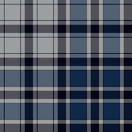 irish culture: Blue check plaid seamless pattern. Illustration