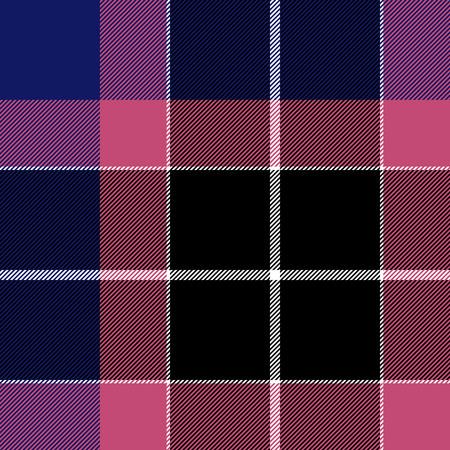 checkered skirt: Pink blue check plaid seamless pattern.
