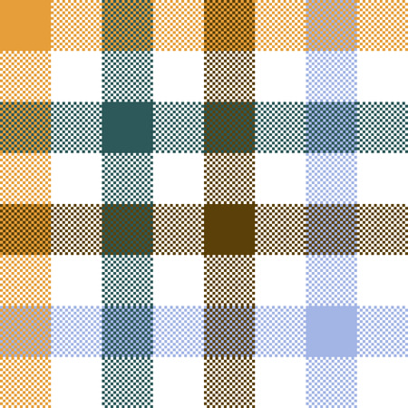 checkerboard backdrop: Colored check plaid seamless fabric texture. Vector illustration. Illustration