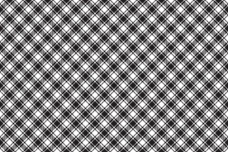 Black white diagonal check texture seamless pattern background. illustration.