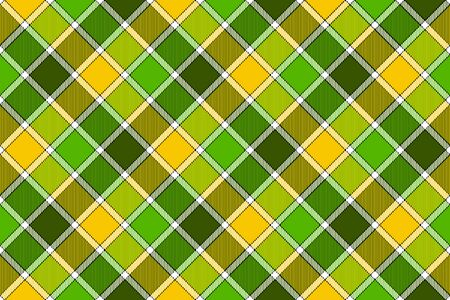 Green yellow spring diagonal check seamless pattern. Vector illustration. Flat design. EPS10.