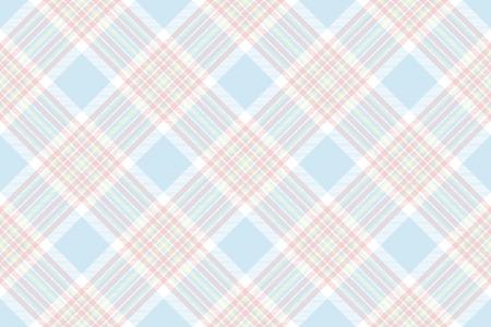 Pastel check shirt seamless background. Vector illustration. Flat design. EPS10.