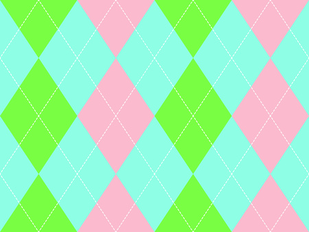 Sweet colors argyle seamless pattern. Flat design. Vector illustration. Illustration