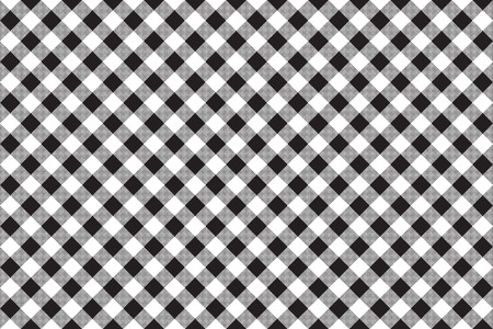black and white: Black white checkerboard check diagonal seamless background. Vector illustration.