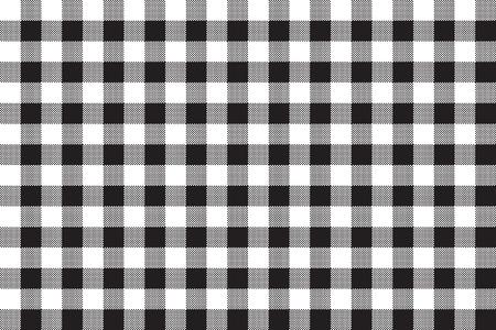 black and white: Black white checkerboard check seamless background. Vector illustration.
