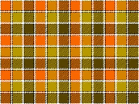 argyle: Green orange khaki check seamless background. Vector illustration. Flat design. EPS10.