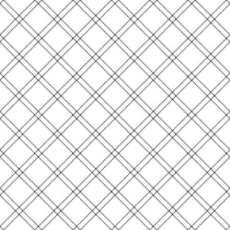 Diagonal check plaid seamless pattern. Illustration