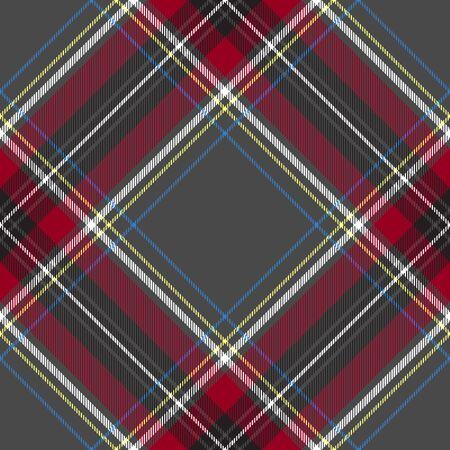 gray pattern: Gray red diagonal check textile seamless pattern Illustration