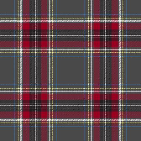 gray pattern: Gray red check tartan textile seamless pattern