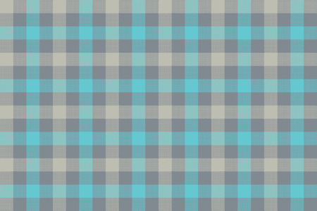 Gray blue check fabric texture background seamless pattern. Vector illustration. EPS 10. Illustration