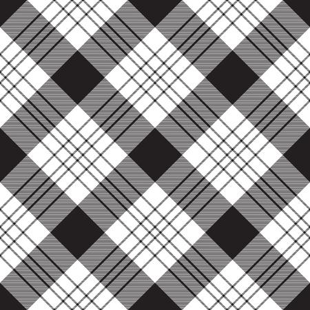 Diagonal plaid seamless pattern. Vector illustration. 向量圖像