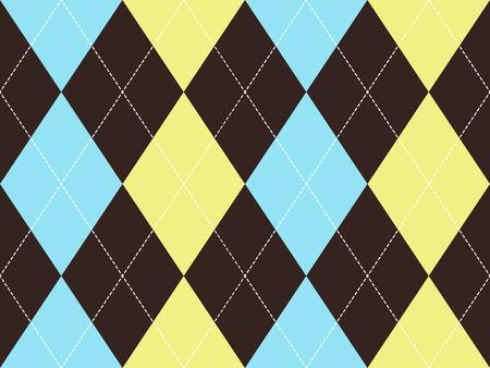 yelow: Brown argyle seamless pattern. Flat design. Vector illustration. Illustration