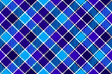 Blue diagonal check seamless background. Vector illustration. Flat design. EPS10. Illustration