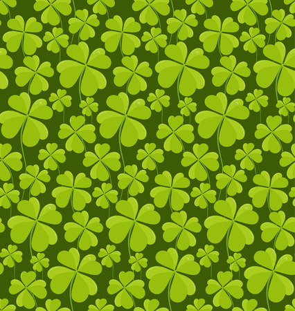 patrik: Clovers seamless pattern. Vector illustration.