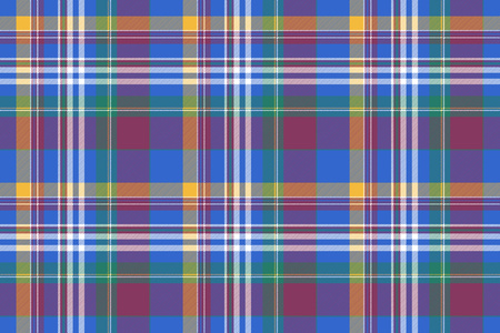 Check colored shirt tartan seamless background. Vector illustration.