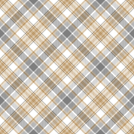 Gray beige checkered tartan seamless pattern. Vector illustration.
